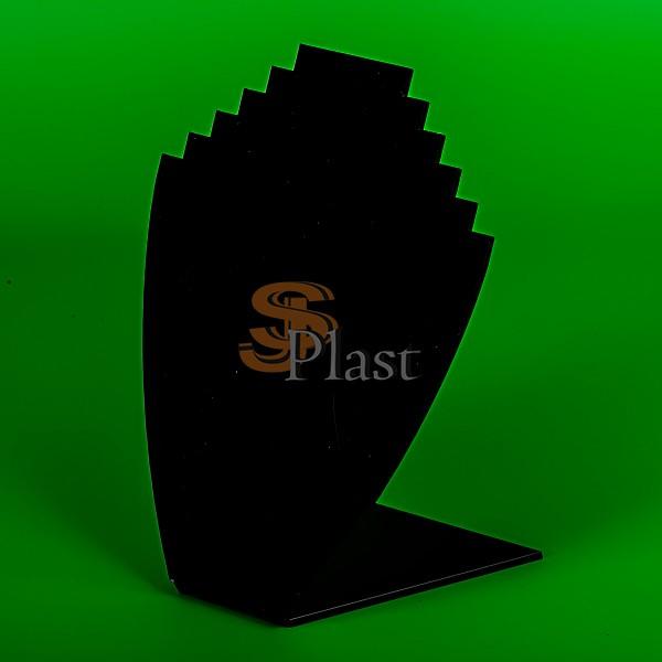 Подставка из оргстекла с вырезами для 5 цепочек
