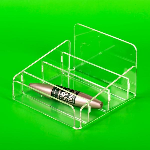 Коробка-разделитель из оргстекла трехсекционная
