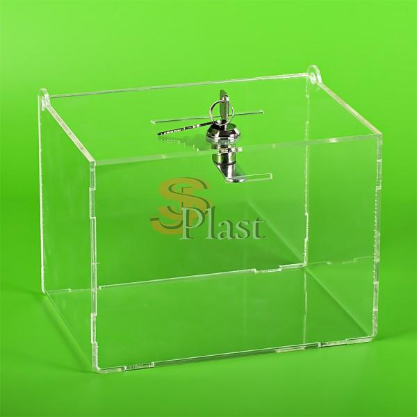 Ящик для пожертвований из оргстекла